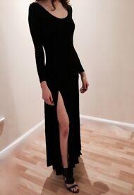 Silence & Noise Black Rayon Dress