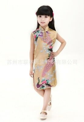 Fashion Chinese Style Qi Pao / Cheongsam Girl Dress for Children Girls kids (Chinese Attire For Kids)