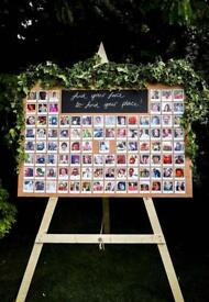 Photo Board & Easel for Wedding Table Plan