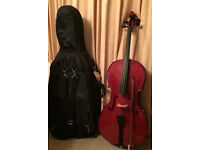 Stentor Student Cello - 3/4 Size with soft case & bow