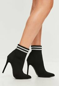 Black Shoe sock boots- Missguided