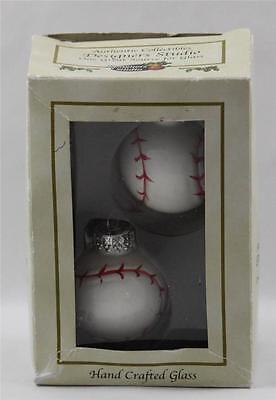 Baseball Ornaments Christmas Hand Crafted Glass Designers Studio