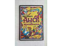 Vintage Alice In Wonderland framed poster
