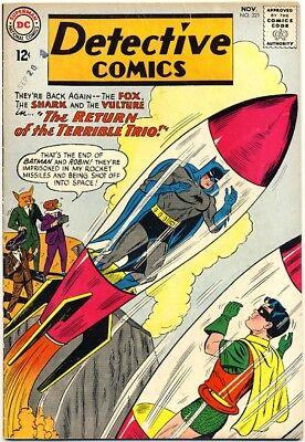 """DETECTIVE COMICS #321 1963 FN+ FOX SHARK VULTURE """"Terrible Trio"""" BATMAN & ROBIN"""