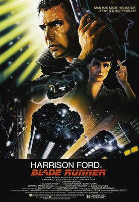 BLADE RUNNER CLASSIC SCI-FI MOVIE FILM HARRISON FORD Poster Print
