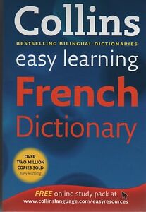 COLLINS EASY LEARNING FRENCH DICTIONARY - NEW BOOK P/B (WH4)