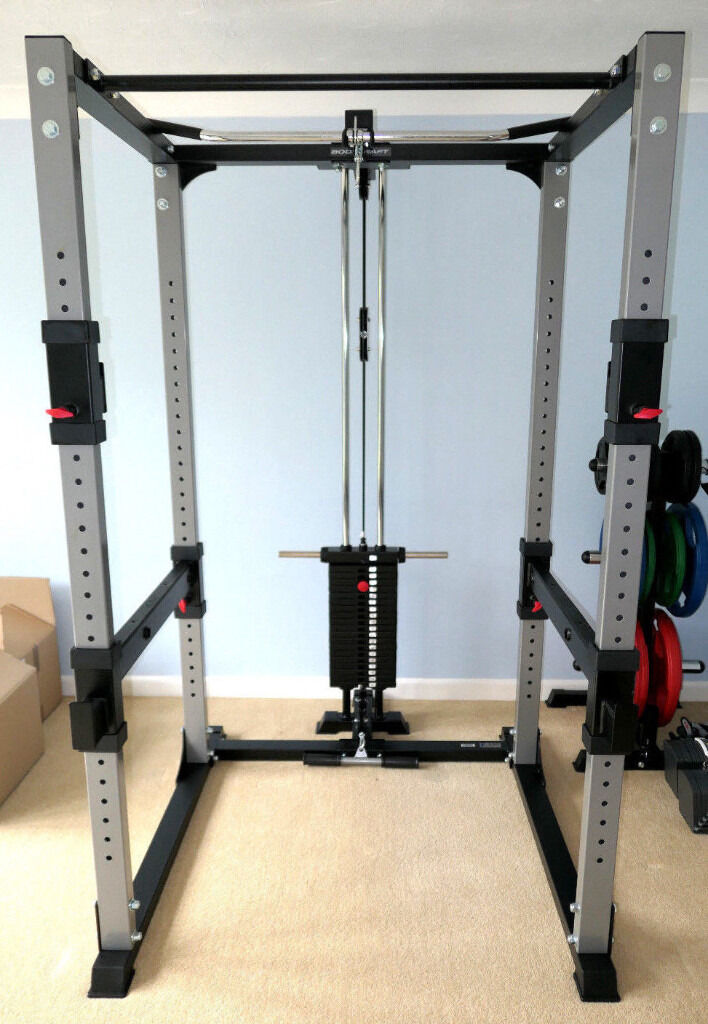 Bodycraft F430 Power Squat Rack Cage Cable Weights