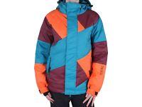 Nikita Manaslu Down Insulated Puffa Snowboard Ski Jacket Ladies Small Blue Orange Burgundy Snow Coat