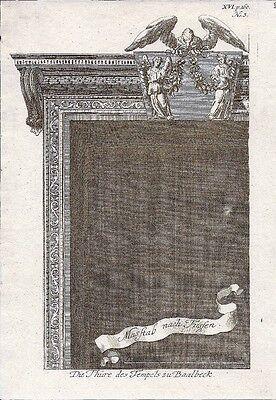 Antique engraving, Temples zu Baalbeck P XVI