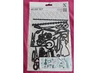 Xcut A5 Die Set Haberdashery (Sewing, Dress Making, Knitting), Ref: XCU 503154
