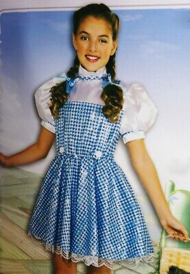 Girls DOROTHY The Wizard Of Oz Halloween Costume Dress Outfit Purim S Medium NEW](Dorothy Halloween Outfit)