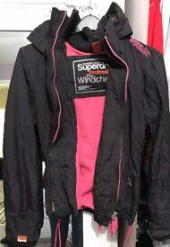 Ladies SUPERDRY fleece lined windcheater jacket L