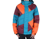 NIKITA Manaslu Down Insulated Puffa Snowboard Ski Jacket, Small Ladies Womens 10 12 Blue Snow Coat