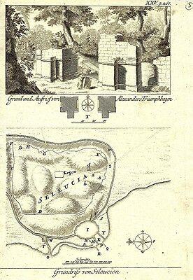 Antique engraving, Grundrisse von Seleucien P XXV