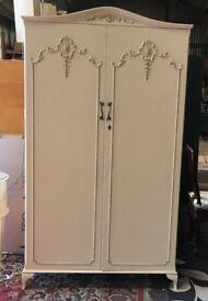 Beautiful Painted Double Wardrobe - Bedroom - Dressing Room