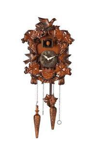 "10"" Mini Forester Bird Family Art Cuckoo Clock, Birdhouse Design - C00078"