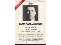 2 x tickets Liam Gallagher at Finsbury Park 29th June