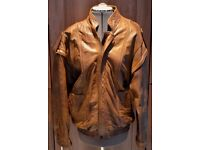 Gents Real Leather/Bomber Jacket. Removable sleeves. Fully lined. Perfect Condition Size M £65