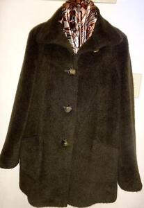 Womens Large CINZIA ROCCA // Italy/ Alpaca Wool // Car Coat/ Olive Green 12 14 38 40 Vtg Swing Style Jacket Winter Warm