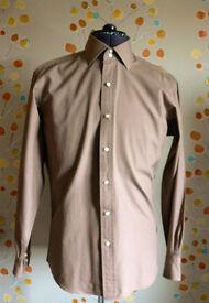 John Francomb Shirt, Milan 2 Button Collar size 15.5, Semi Fitted, Button Cuff, Like New, T M Lewin