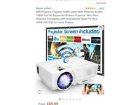 Projector with screen