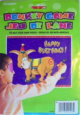 Children's Pin (Stick) The Tail on The Donkey Kids Birthday Party Game
