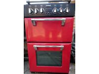 Cooker, electric with hinged hob hood cover.