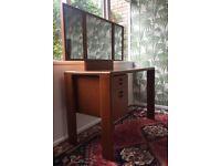 Vintage / Retro Dressing Table with Tri-Fold Mirror