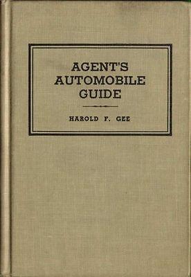 1954 INSURANCE AGENT'S AUTOMOBILE GUIDE, HARDBACK BOOK