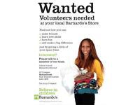 Weekend volunteer shop worker