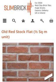 Slimbrick old red stock flat brick tiles (6sqm)