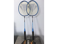 A pair of badminton rackets at only £10, other adults & kids rackets are also available
