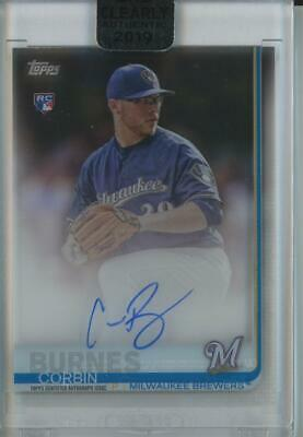2019 Topps Clearly Corbin Burnes Auto Autograph RC Rookie