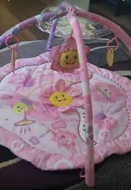 Pink playmat