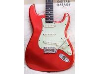 Fender USA Vintage 62 Tangerine Relic Stratocaster guitar - CS pickups, tweed case - CAN POST