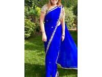 Beautiful jewelled saree, used once