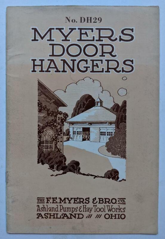 1929 FE MYERS & BRO DOOR HANGERS for BARN GARAGE FACTORY ASHLAND PUMP & HAY TOOL