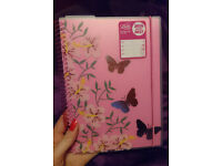 NEW Letts A5 pink academic diary 2016 - 2017