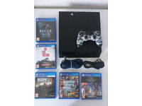 PS4 Slim 1TB + limited edition camo controller + 5 games