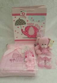 Baby girl packed gift bag