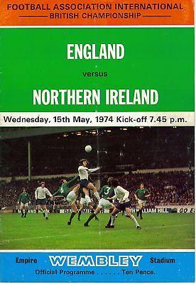 1974 ENGLAND v NORTHERN IRELAND