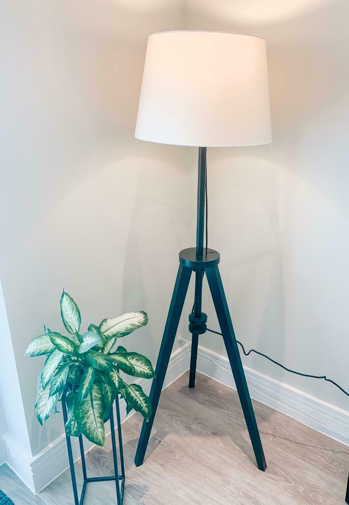 Ikea Tripod Floor Lamp Including White Lamp Shade In Truro Cornwall Gumtree