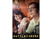 The Battle of the Sexes - BARBICAN CINEMA - Sun 26th Nov. x2 tickets