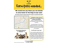 Donations of Qualiy Furniture for us to make some pounds for the hounds