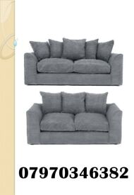 SUPER SALE DYLAN FABRIC SOFA 3+2 £375.00. AVAILABLE IN 5 DIFFERENT COLOURS. FREE NATIONWIDE DELIVERY