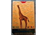 Pack Of Vintage 'World Of Famous Wild Animals' Picture Playing Cards (1980)