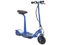 Razor E100S Electric Scooter Blue - With Seat