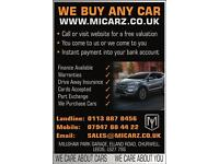 ~WE BUY ANY CAR~ANY MAKE OR MODEL~UPTO 10 YEARS OLD~QUICK VALUATION AND COLLECTION~INSTANT PAYMENT~