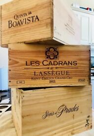 Wine wood boxes, great for craft and decoration