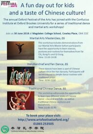 Chinese Dance and Martial Arts Workshops
